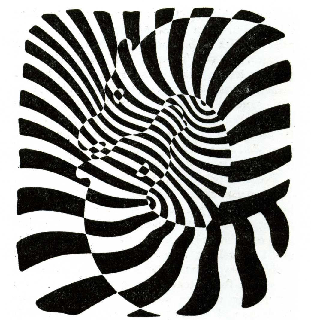 optical illusions eye vasarely trick hand illusion zebras victor eyes vaserely