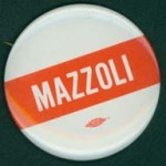 Mazzoli campaign button, 1982