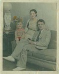 Romano Mazzoli and his parents, circa 1934