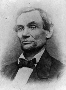 Lincoln with short beard