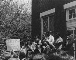 Black student union protest, 1969