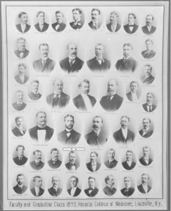 Faculty and graduating class 1895.