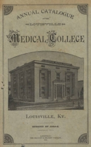 Catalog of the Louisville Medical College, 1884-85.