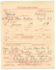 Capone draft card
