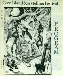 Program from 1985 Corn Island Storytelling Festival