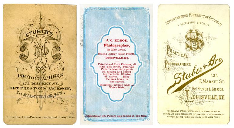Various Carte De Visite Backmarks Ca 1865 1890