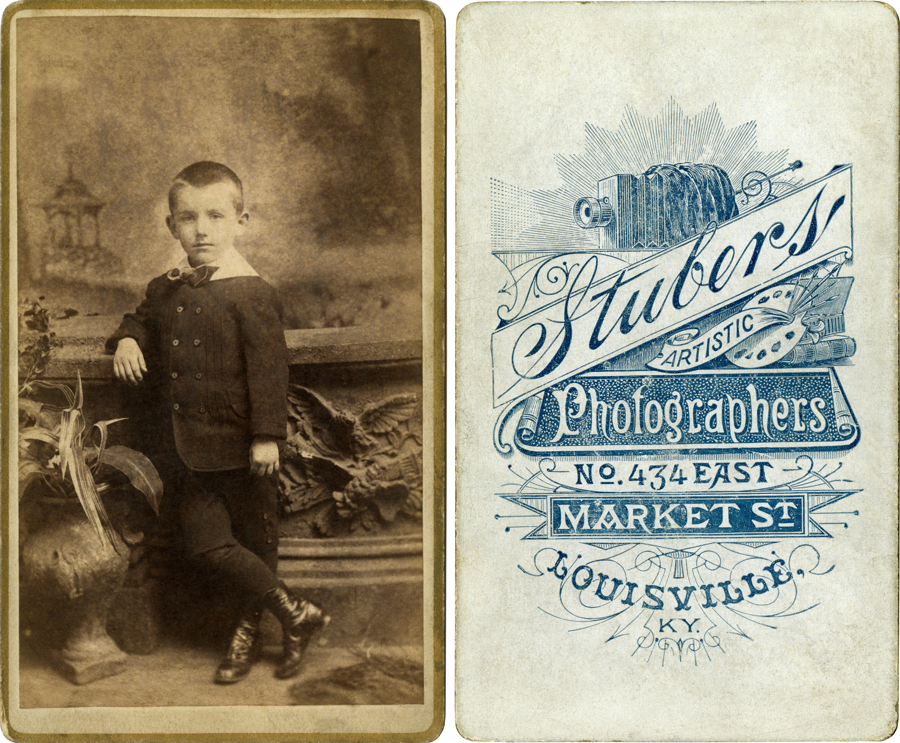 Carte De Visite Front And Back By Stubers Ca 1882 1888