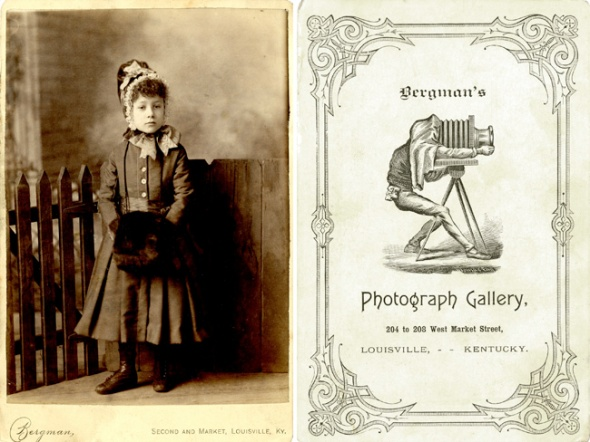 Cabinet card by L. Bergman, ca. 1882