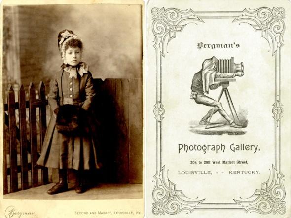 Cabinet card by L. Bergman, ca. 1882