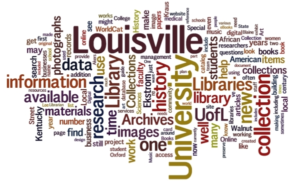 Louisville University information Libraries Library local collection photographs data research use archives work project WorldCat history