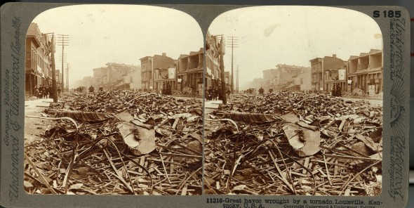 Scene of destruction from the Louisville tornado of 1890. 99.36.004