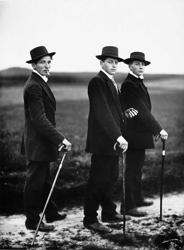 August Sander - Three Young Farmers on Their Way to a Dance, 1914
