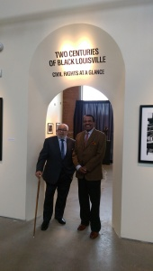 Merv Aubespin and Ken Clay at entrance to exhibit