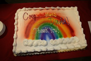 Rainbow cake - Congradulations David! Thank You!