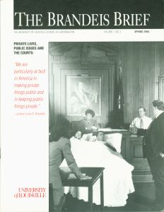 An example of the cover of The Brandeis Brief, Spring 1994 issue.