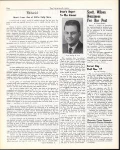 An example of a page from the Louisville Lawyer from December 1961.