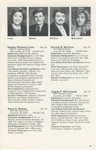 An example page from the 1989-1990 Senior Bulletin.