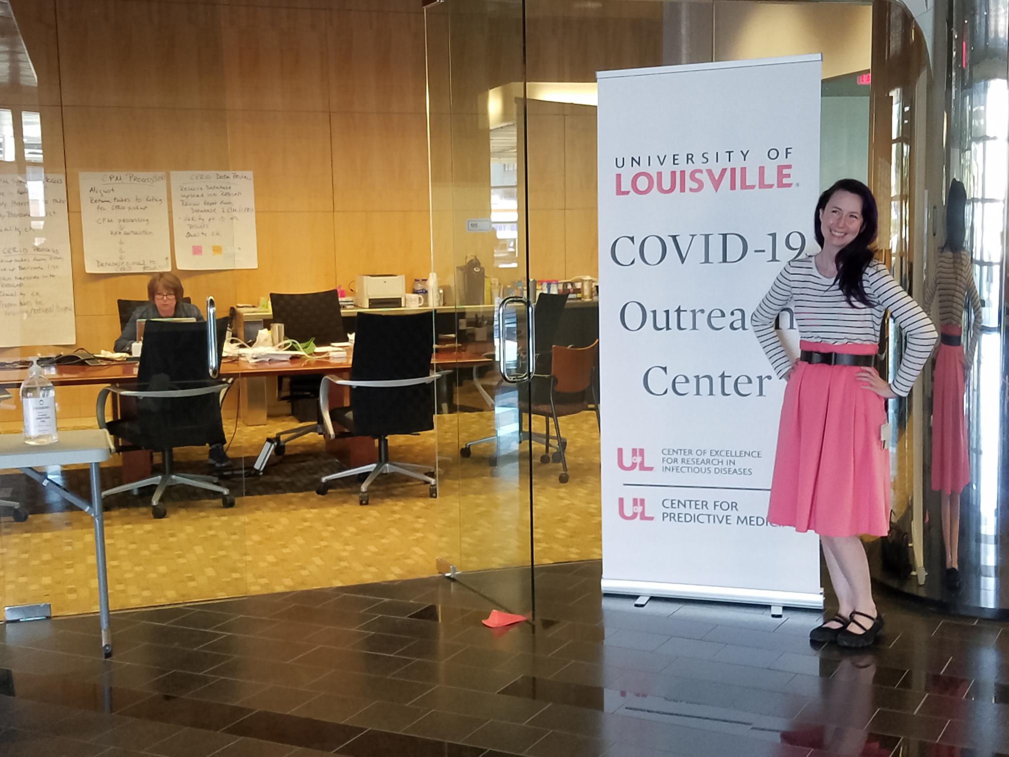 Jessica Petrey at COVID19 Outreach center