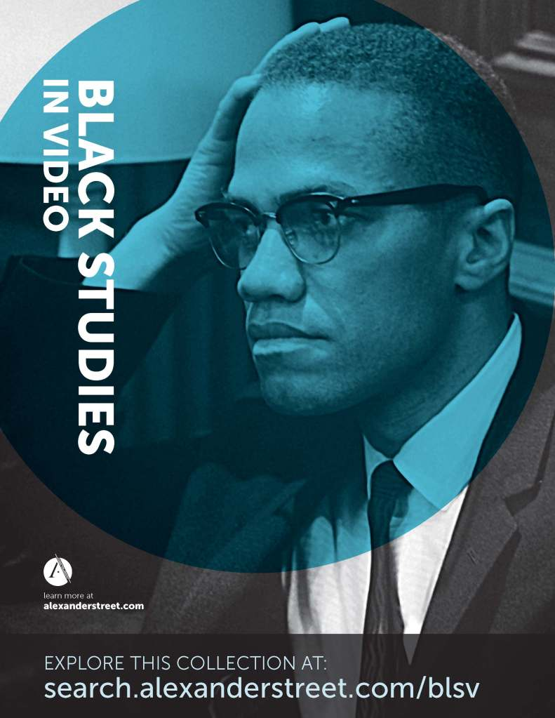 Image of Black Studies in Video, a database added to Ekstrom Library