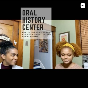 Image from Archives' Instagram page on oral history workshop interviews.